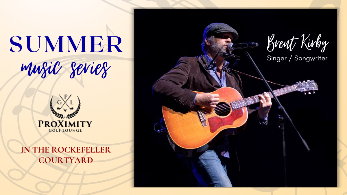 Live Music – Brent Kirby to kick off Summer Music Series