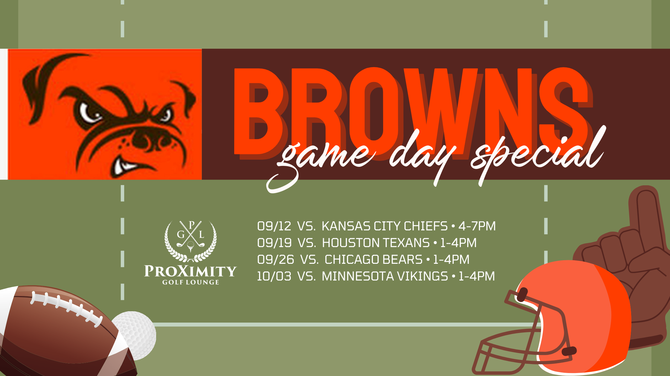 Browns Game Day Packages